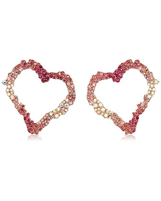 Betsey Johnson - Pink S Open Gypsy Heart Earrings - Lyst