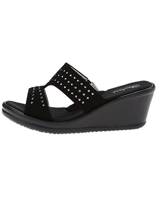 7e9d4eeee590 ... Skechers - Black Cali Rumblers-hope Float Wedge Sandal - Lyst ...