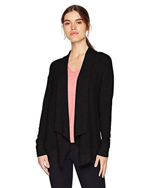 Michael Stars - Black Madison Brushed Jersey Long Sleeve Open Front Cardigan  - Lyst ... 21c8c2370