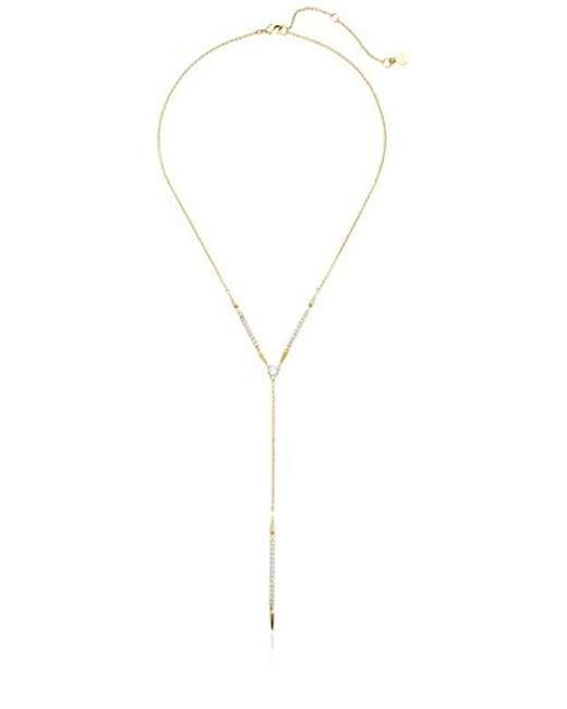 Nicole Miller - Metallic New York Arrow Pave Bar Y Necklace - Lyst