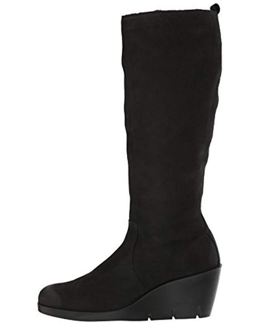 ca11d2b5fae3 Lyst - Ecco Bella Wedge Tall Riding Boot in Black - Save 1%