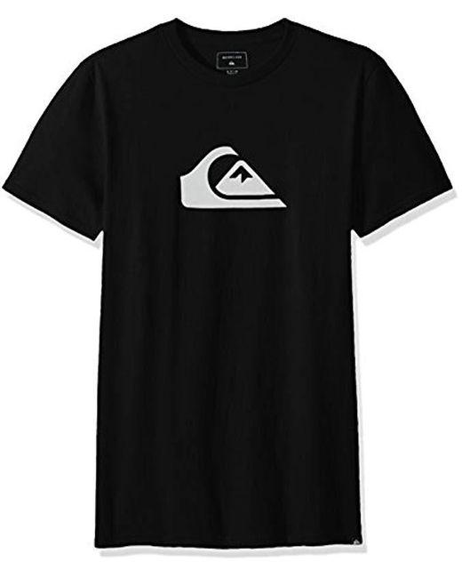 Quiksilver - Black Comp Logo Tee for Men - Lyst