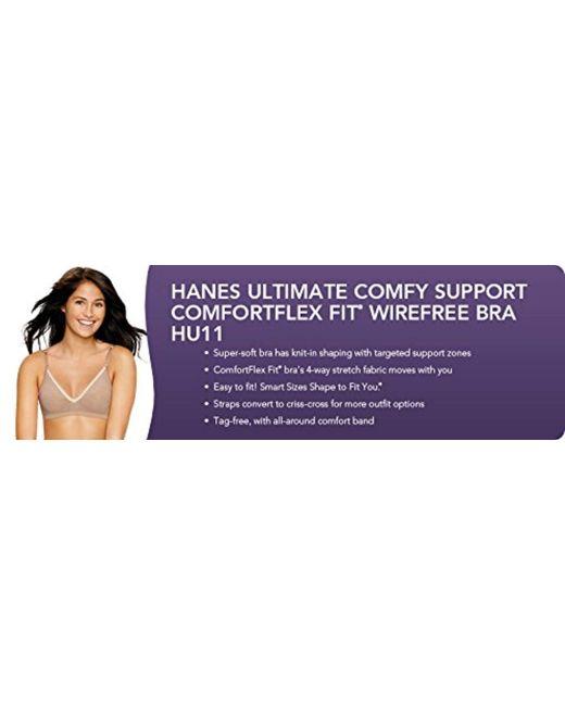 dffc400f3 ... Hanes - Black Ultimate Comfy Support Wireless Bra Dhhu11 - Lyst ...