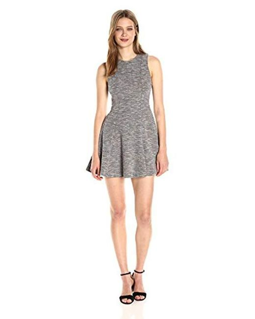 BCBGeneration - Black Multicolored Fit And Flare Dress - Lyst