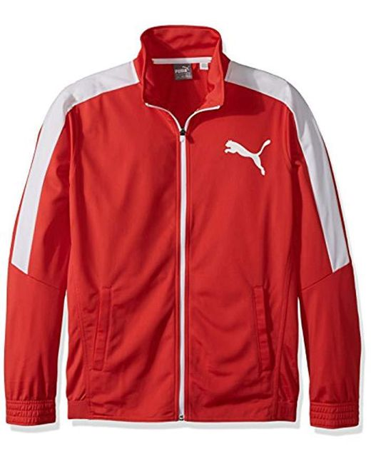 PUMA - Red Contrast Jacket for Men - Lyst