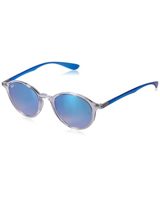 Ray-Ban - Blue Tech Liteforce Round Flash Sunglasses - Lyst