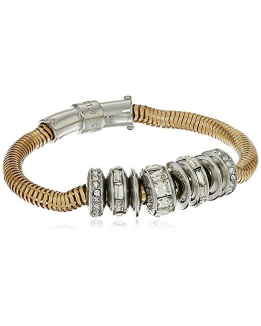 Kenneth Cole - Metallic Modern Essentials Silver And Crystal Bracelet - Lyst
