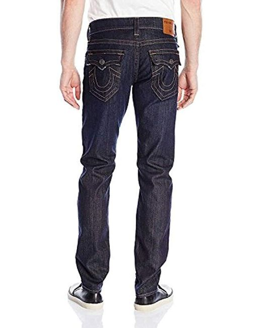 8ddb89cd9 Lyst - True Religion Geno W Flap Slim Jean In Wanted Man in Blue for ...