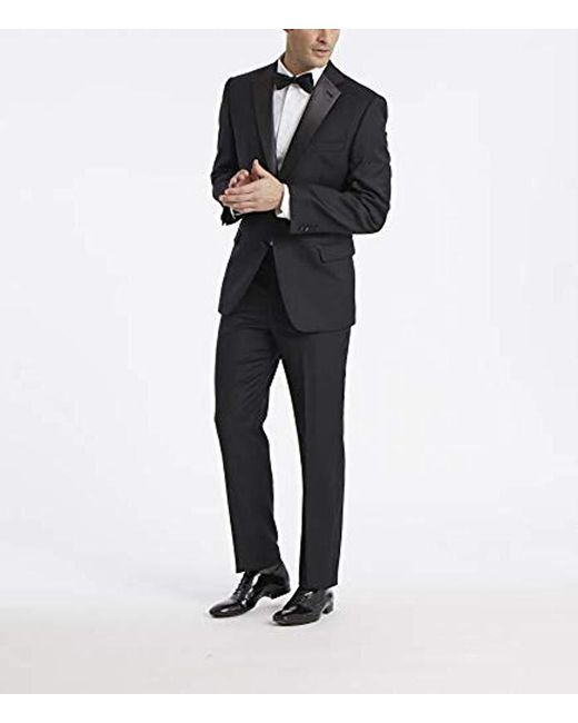03c24e3bfa00 ... Calvin Klein - Black Modern Fit 100% Wool Tuxedo Suit Separate (blazer  And Pant ...