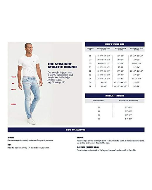 6d3ac8eea25832 ... Tommy Hilfiger - Blue Original Ronnie Straight Athletic Fit Jeans for  Men - Lyst