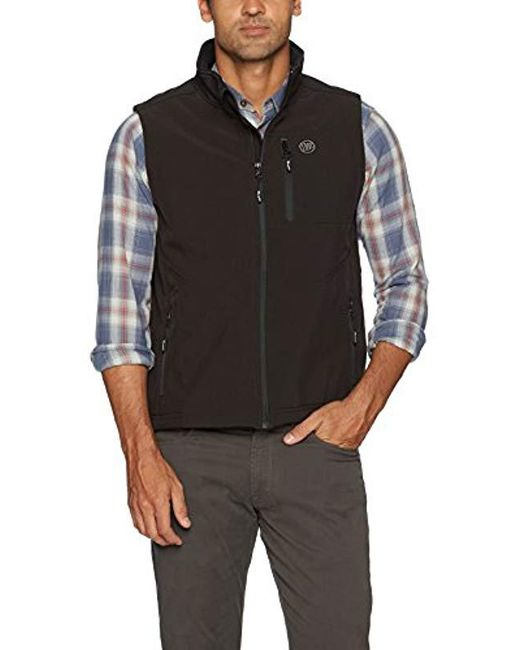 Wrangler - Black Water Repellent Trail Vest for Men - Lyst