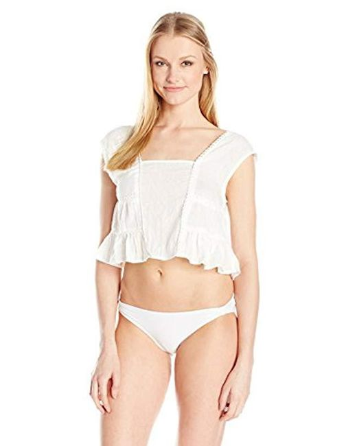 MINKPINK - White Cloud Nine Cover Up Top - Lyst
