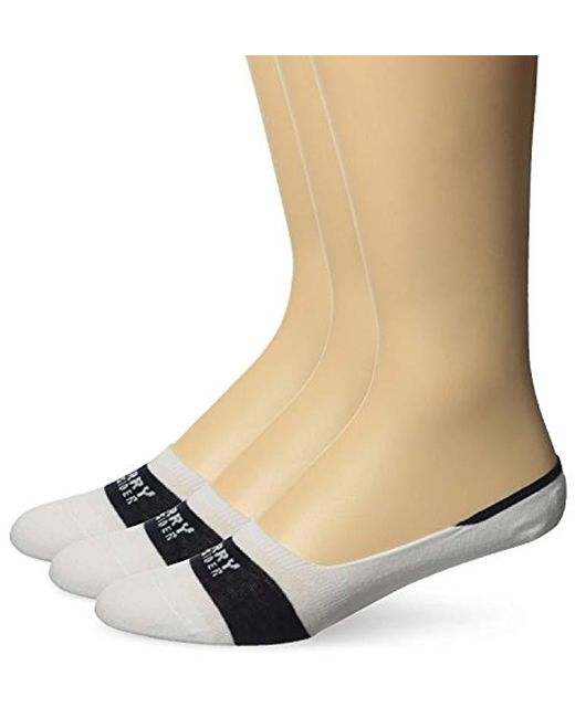 Sperry Top-Sider - White Solid Signature Liner 3 Pack, Wine Assorted, Sock Size:10-13/shoe Size: 6-12 - Lyst
