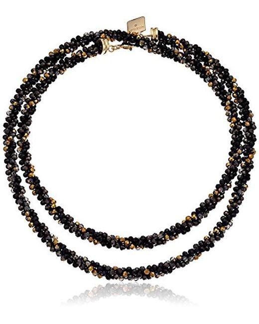 Anne Klein - Metallic Silver-tone Strand Necklace - Lyst