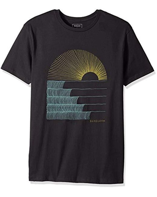 Quiksilver - Black Short Sleeve Sust East Morning Glide Tee for Men - Lyst