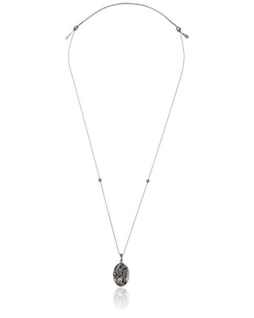"""ALEX AND ANI - Metallic """"path Of Symbols"""" Sphinx Expandable Wire Necklace, 32"""" - Lyst"""
