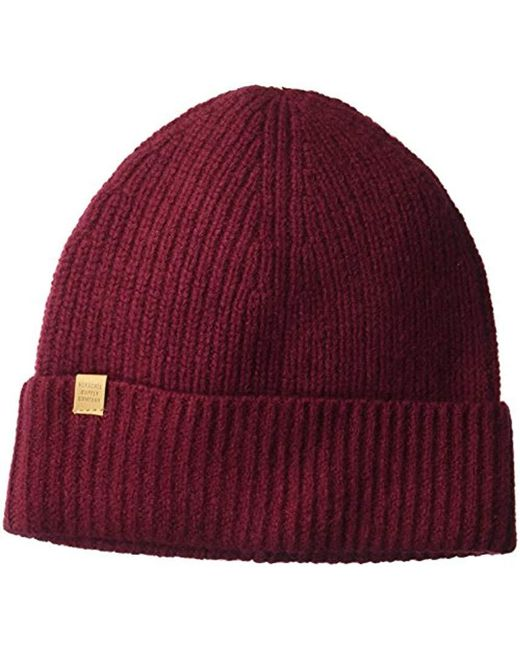 Lyst - Herschel Supply Co. Cardiff Beanie in Red for Men - Save ... 9de6287a1435