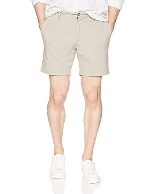Nautica - Natural Cotton Twill Flat Front Stretch Chino Short for Men - Lyst