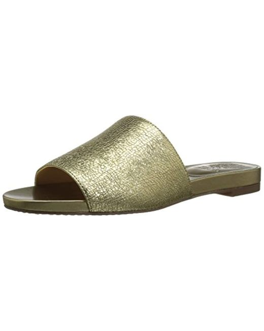 Vince Camuto - Metallic Haydan Slide Sandal - Lyst