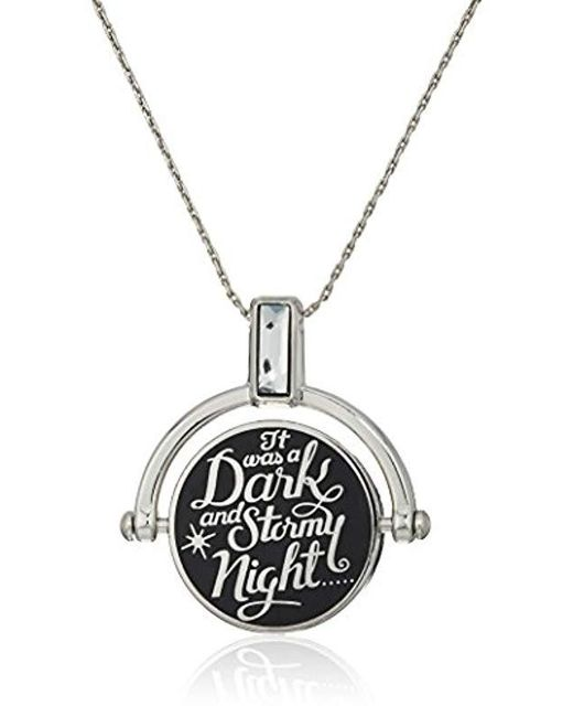 ALEX AND ANI - Metallic S Wrinkle In Time - Dark And Stormy Night Spinner Expandable Necklace - Lyst