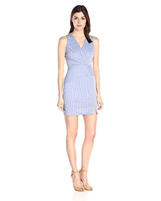 f2d183098 NYDJ - Blue Ophelia Silky Cotton Gingham Dress With Fit Solution - Lyst ...