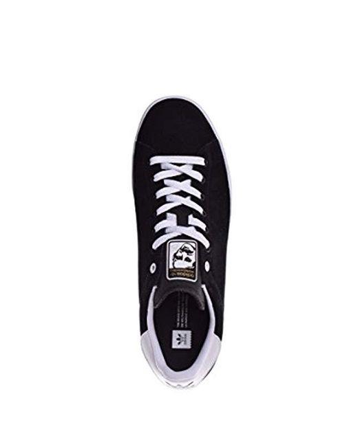 ... Adidas Originals - Black Stan Smith Vulc Running Shoe for Men - Lyst ... 353aa2da7