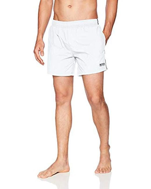 BOSS - White Perch Swim Shorts for Men - Lyst