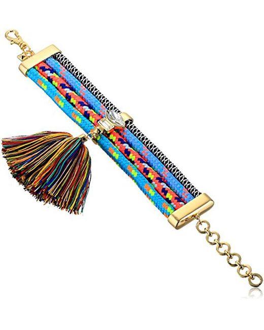 Rebecca Minkoff - Multicolor S Climbing Rope Tassel Bracelet - Lyst