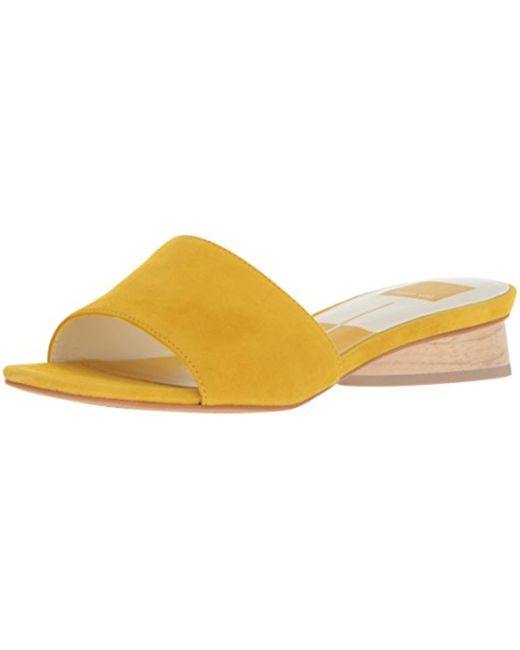 Dolce Vita - Yellow Adalea Slide Sandal - Lyst