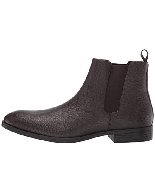 50b80129677 Men's Brown Carter Small Tumbled Leather Chelsea Boot