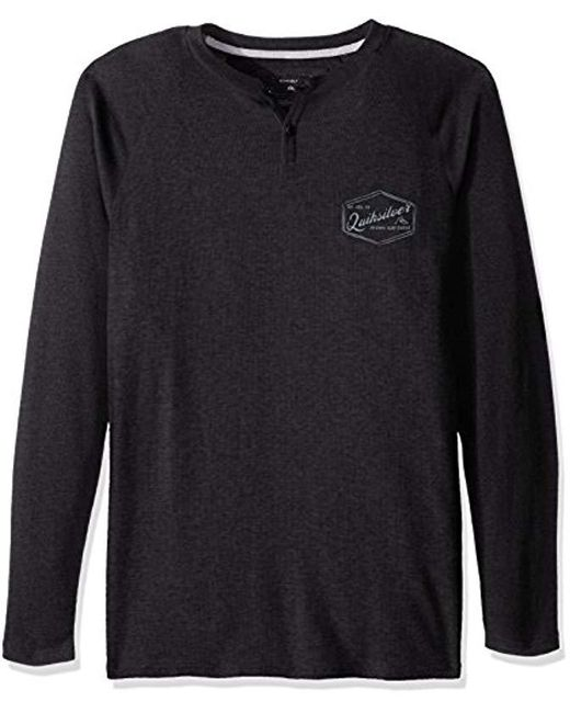 Quiksilver - Black Polar Waters Henley Baseball T-shirt for Men - Lyst