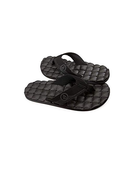 Volcom - Black 's Recliner Sandal Flip Flop for Men - Lyst