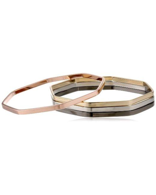 Chamak by Priya Kakkar - Metallic Dainty Angular Octagonal Set Of 4 Cuff Bracelet - Lyst