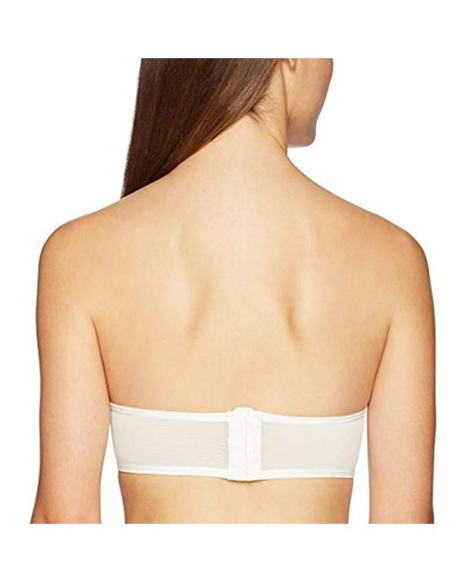 95612bbe91571 ... Mae - White All Over Lace Padded Bandeau Bralette (for A-c Cups) - Lyst  ...