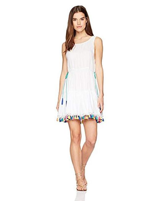Nanette Lepore - White Fiesta Covers Short Dress Coverup - Lyst