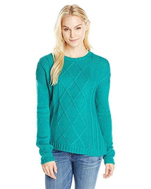 Buffalo David Bitton - Blue Bullette Sequin Elbow Patch Pullover Sweater - Lyst