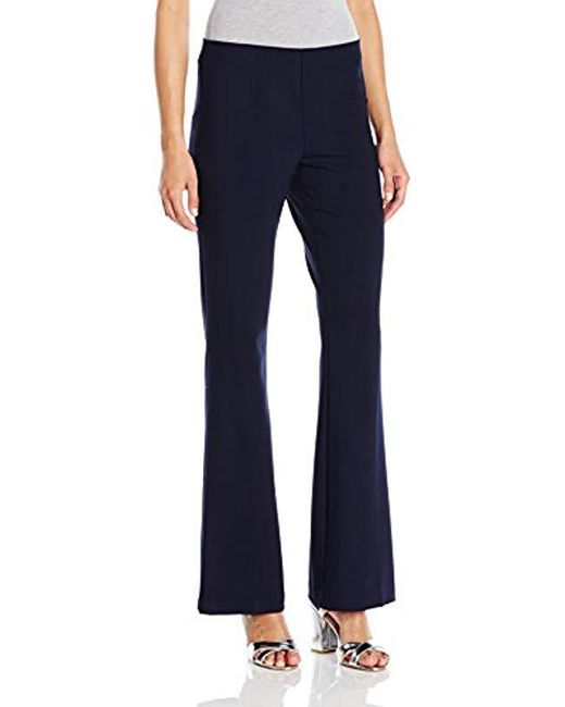 Trina Turk - Blue Jacoba Classic High Waist Side Zip Flare Leg Pant - Lyst