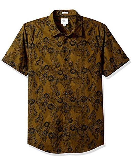 Guess - Multicolor Ink Palm Laguna Shirt for Men - Lyst