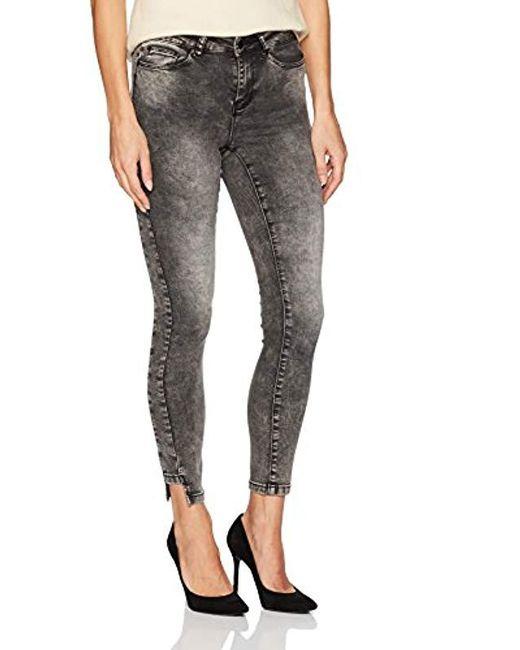 Vero Moda - Gray Seven Uneven Hem Ankle Jeans - Lyst