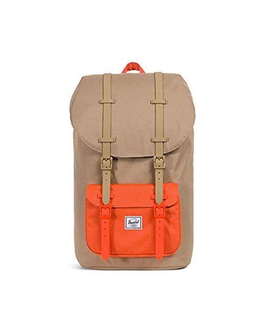 f2adbc58f6d Herschel Supply Co. - Orange Little America Backpack for Men - Lyst ...