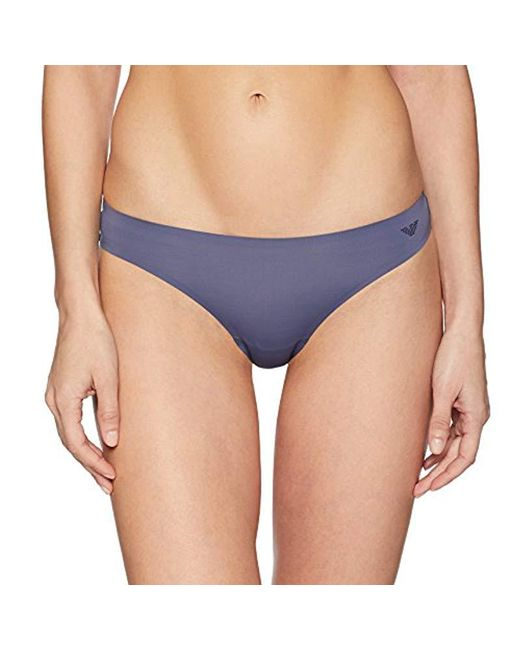 Emporio Armani - Blue Second Skin Thong - Lyst