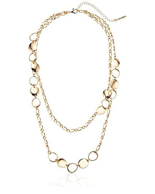 T Tahari - Metallic Circles Chain Necklace - Lyst