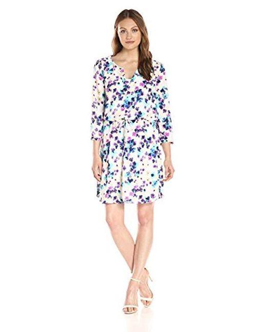 NYDJ - Blue Alexa Shirtdress With Detachable Fit Solution - Lyst