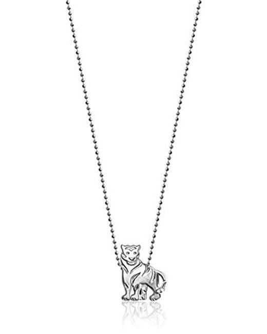 "Alex Woo - Metallic ""little Signs Animals"" Tiger Pendant Necklace - Lyst"