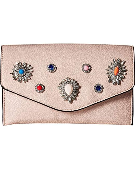Steve Madden - Multicolor Crown Non Leather Multi Colored Jewels And Rhinestones Clutch Crossbody - Lyst