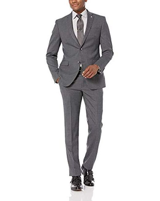 Original Penguin Gray Slim Fit Suit for men