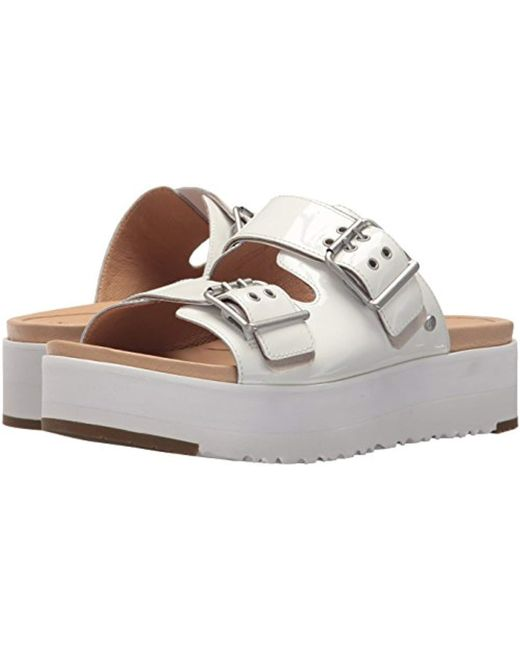 54b62f59192 Lyst - UGG Cammie Wedge Sandal in White - Save 38%