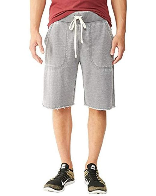e2a621683d Alternative Apparel - Gray Light French Terry Victory Short for Men - Lyst  ...