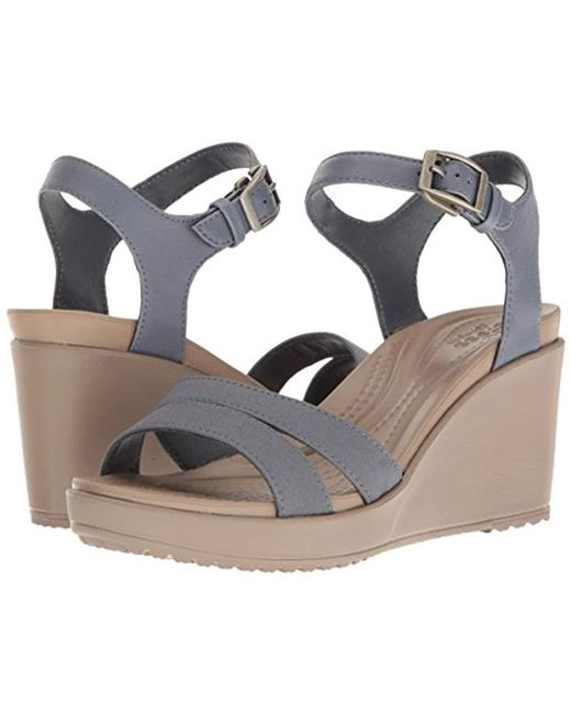 a62f9571128d ... Crocs™ - Multicolor Leigh Ii Ankle Strap Wedge - Lyst ...