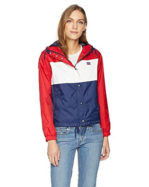 Levi's - Red Retro Hooded Track Jacket - Lyst